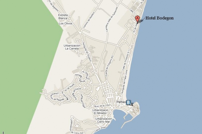 Mapa de Situación Hotel Bodegon